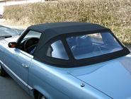 MERCEDES 350 SL Typ 107, Bj. 1975: Cabrioverdeck neu aufgezogen