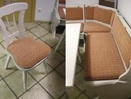 Eckbank und Stuhl neu bezogen