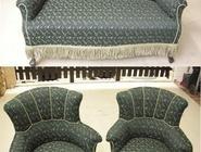 Sofa und 2 Sessel neu bezogen