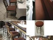 Hotel & Gasthof Kunze, Ibbenbüren: 38 Stühle, 9 Barhocker und 5 Bänke abgezogen, aufgepolstert und neu bezogen